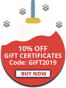 10% off Gift Certificates, Code: GIFT2019